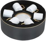 L'OBJET Soie Tressée Set Of 6 Cup & Saucers
