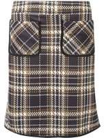 Dorothy Perkins Womens **Tall Multi Coloured Check Pocket Mini Skirt