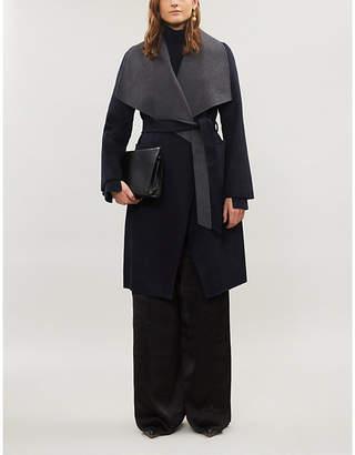 MICHAEL Michael Kors Shawl lapel belted wool-blend coat