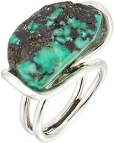 King Baby Studio Women's Wire Ring w/ a Natural Turquoise Stone Ring