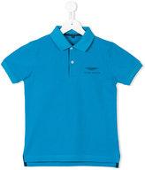 Aston Martin Kids - embroidered logo polo shirt - kids - Cotton - 4 yrs