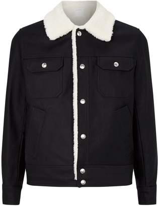Sandro Cotton Fleece-Lined Jacket