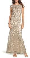 Tadashi Shoji Women's Off The Shoulder Corded Tulle Gown