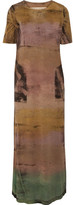 Raquel Allegra Tie-dyed Stretch Cotton-jersey Maxi Dress - Brown
