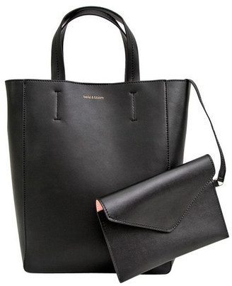 Belle & Bloom WIRO200BLK Black Wild Romance Double Handle Tote Bag
