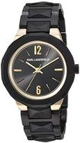 Karl Lagerfeld Women's 'Joleigh' Quartz Stainless Steel Casual Watch, Color:Black (Model: KL3401)