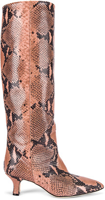 Paris Texas Python Print Boot in Blush | FWRD
