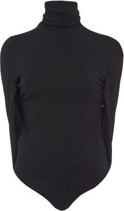 Cushnie Cape-Effect Stretch-Jersey Turtleneck Bodysuit