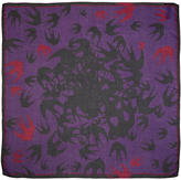 McQ Purple Swallow Swarm Scarf