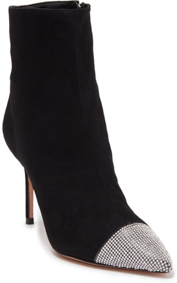Schutz Sury Suede Embellished Ankle Bootie