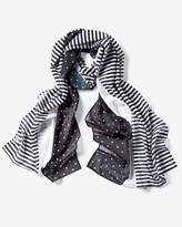 White House Black Market Mixed-Print Oblong Scarf