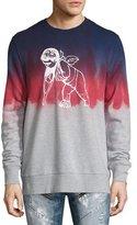 PRPS Tie-Dye Cherub Logo Sweatshirt, Gray