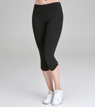 Mny Performance Final Sale CROP LEGGING WITH TWISTED KNOT