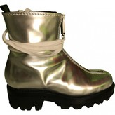 Alyx Silver Leather Boots