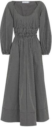 Proenza Schouler White Label checked cotton midi dress