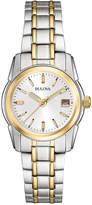 Bulova Women's Two Tone Stainless Steel Bracelet Watch 20mm 98M105