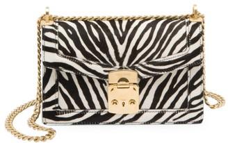 Miu Miu Zebra-Print Calf Hair Crossbody Bag