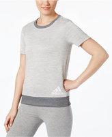 adidas Space-Dyed Short-Sleeve Sweatshirt