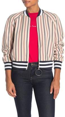 The Fifth Label Striped Bomber Jacket