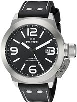 TW Steel Men's CS2 Stainless Steel Watch with Black Leather Band