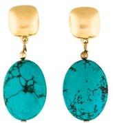 Kenneth Jay Lane Dyed Howlite Drop Earrings