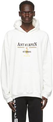 Vetements White Antwerpen Hoodie
