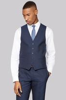 DKNY Slim Fit Indigo Mohair Look Waistcoat