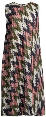 M Missoni Sleeveless Lurex Plisse Dress