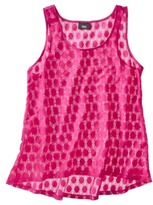 Mossimo Women's Textured Lace Tank - Assorted Colors