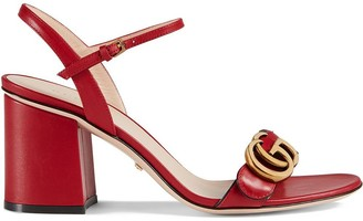 Gucci Leather mid-heel sandals