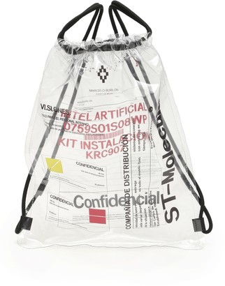 Marcelo Burlon County of Milan Printed Pvc Backpack