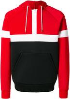 Givenchy star print paneled hoodie - men - Cotton/Polyester/Polyurethane/Viscose - M