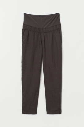 H&M MAMA Linen trousers