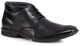 Hush Puppies Black Leather Extra Wide Chukka Boots
