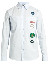 Raf Simons Scout Badge-appliqué Cotton-poplin Shirt