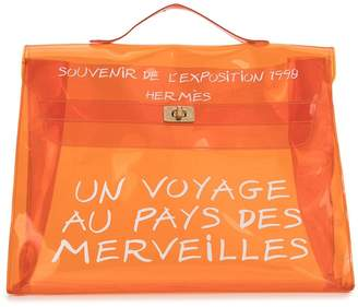Hermes Pre-Owned slogan Kelly tote