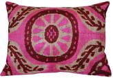 Orientalist Home Ines Ikat 16x24 Pillow - Pink pink/multi