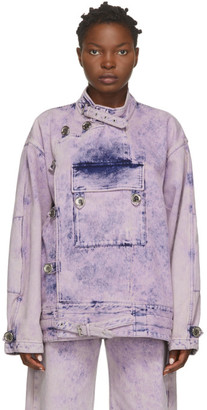 Marques Almeida Pink Denim Army Jacket