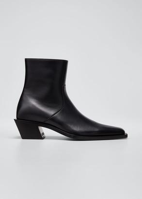 Balenciaga Men's Tiaga Pointed Leather Chelsea Boots