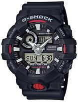 Casio Ga-7001-aer G-shock Chronograph Digital Resin Strap Watch, Black/grey