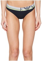 Emporio Armani Pop Lines Collection Thong Women's Underwear