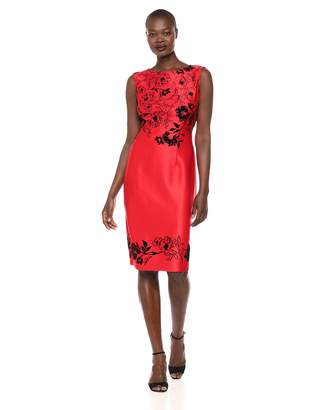 SL Fashions Women's Floral Print Scuba Dress