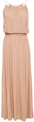 Vanessa Bruno Lorine Gathered Crepe-jersey Maxi Dress