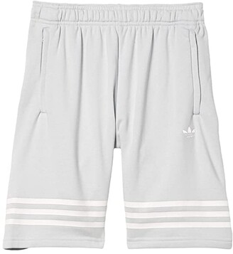 Adidas Originals Kids Outline Shorts (Little Kids/Big Kids) (Clear Grey/White) Kid's Shorts