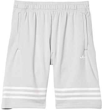 Adidas Originals Kids Outline Shorts (Little Kids/Big Kids) (Clear Grey/White) Kid's Shorts