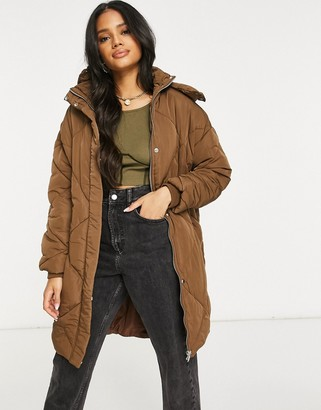 Sixth June oversized quilted puffer jacket