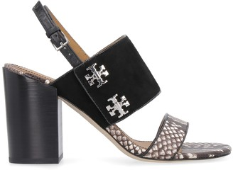 Tory Burch Kira Snakeskin Print Leather Sandals