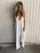 Tysa Weaver Playsuit in Off White