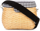 Edie Parker Jane gingham crossbody bag - women - Cotton/Straw - One Size