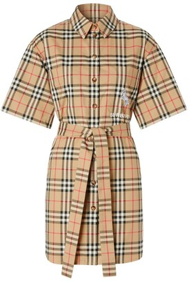 Burberry Vintage Check Shirt Dress
